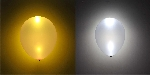GLOBO LATEX SURTIDO CON LED (PLATA Y ORO METALICOS)