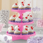 Stand Bright Pink 3 Level Treat Stands 29cm