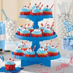 Stand Bright Royal Blue 3 Level Treat Stands 29cm