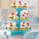 Stand Caribbean Blue 3 Level Treat Stands 29cm