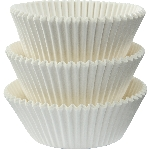 Molde Cup CakeWhite Cupcake Cases 50mm