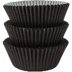 Molde Cup CakeBlack Cupcake Cases 50mm