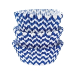 Molde Cup CakeRoyal Blue Chevron Cupcake Cases 50mm
