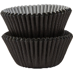 Molde Cup CakeBlack Mini Cupcake Cases 30mm