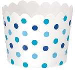 Vasos SCALLOPED SMALL Papel Azul