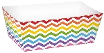 Bandeja Rainbow Buffet Paper Rectangle Trays