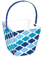 Tarrinas con  HANDLE Papel Azul