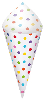 Conos Rainbow Buffet Snack Cones with Tray