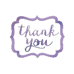 Tarjeta de Agradecimiento Lilac Thank You Stickers