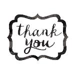 Tarjeta de Agradecimiento Black Thank You Stickers