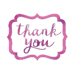 Tarjeta de Agradecimiento Bright Pink Thank You Stickers