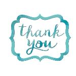 Tarjeta de Agradecimiento Robin's Egg Blue Thank You Stickers