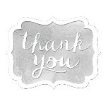 Tarjeta de Agradecimiento Silver Thank You Stickers