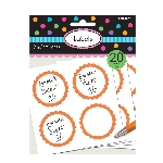 Pegatinas Candy Buffet Scalloped Labels Orange