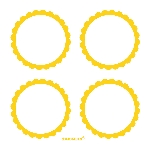 Pegatinas Candy Buffet Scalloped Labels Yellow Sunshine