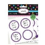 Pegatinas Candy Buffet Scalloped Labels Purple