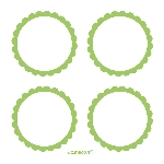 Pegatinas Candy Buffet Scalloped Labels Kiwi Green