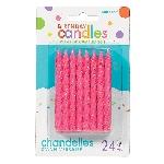 Vela Pink Glitter Spiral 8.2cm