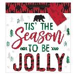 Bolsa Tis The Season To Be Jolly Large Square 30cm x 30cm