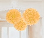 Decoracion Colgante Gold Fluffy Tissue Paper Decorations 40.6cm