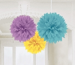 Decoracion Colgante Pompom Fluffy Paper Decorations