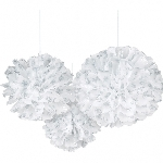 3 Fluffy Decorations Snowflake