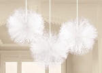 Pompom White Fluffy Decorations
