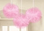 Tull Pink Fluffy Decorations