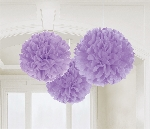Decoracion Colgante Pompom Purple Fluffy Tissue Paper Decorations 40.6cm