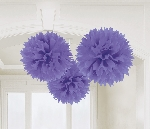 Decoracion Colgante Pompom Purple Paper Fluffy Decoration 40cm