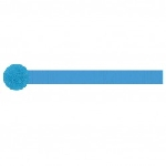 STREAMER CREPE s/c:Azul