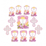 Recortable Communion Pack Pink Cutouts
