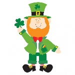 RECORTABLE JOINTED LEPRECHAUN