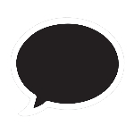 Recortable Photo Booth Speech Bubbles 33cm x 28cm