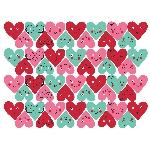 RECORTABLE HEART FACES MINI GLITTER 6.35CM