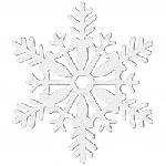 4 Hanging Decorations Snowflake White Glitter 10.2 cm