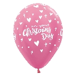 Globos Christening Day Girl Pink 412 Latex Balloons 12''/30cm - 2