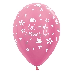 Globos 1st Holy Communion Girl Pink 412 Latex Balloons 12''/30cm - 2