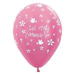 Globos 1st Holy Communion Girl Pink 412 Latex Balloons 12''/30cm - 2