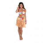 HULA SKIRT KIT SHELL- ADULT