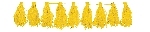 Guirnalda Yellow Tassel Garlands 3m