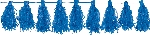 Guirnalda Bright Royal Blue Tassel Garlands 3m