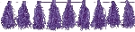Guirnalda Purple Tassel Garlands 3m