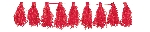 Guirnalda Red Tassel Garlands 3m