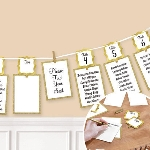 Marcasitios Gold Seating Chart Garland 3.65m