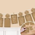 Marcasitios Rustic Seating Chart Garland 3.65m