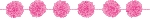 Guirnalda Bright Pink Fluffy Paper Garlands