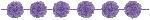 Guirnalda Lilac Fluffy Paper Garlands