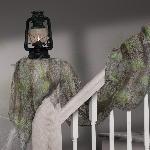 Halloween Grey Gauze Drapes