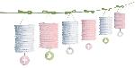 Guirnalda Pink Paper Lantern Garlands 3.65m